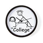 """College"" Wall Clock"