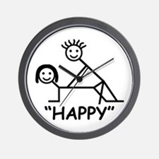 """Happy"" Wall Clock"