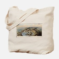 Vintage Pictorial Map of The Panama Canal Tote Bag