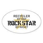Recycler Rock Star Oval Sticker