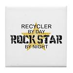 Recycler Rock Star Tile Coaster