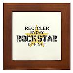 Recycler Rock Star Framed Tile