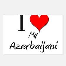 I Love My Azerbaijani Postcards (Package of 8)