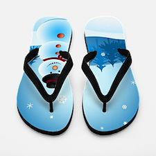 Holiday Snowman Flip Flops
