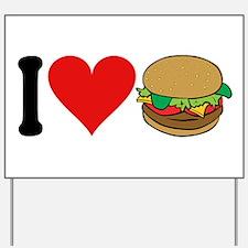 I Love Hamburgers (design) Yard Sign