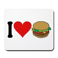 I Love Hamburgers (design) Mousepad