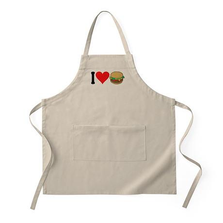 I Love Hamburgers (design) BBQ Apron