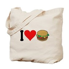I Love Hamburgers (design) Tote Bag