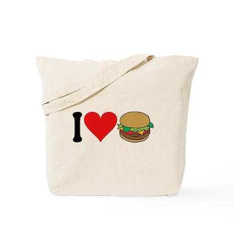 I Love Hamburgers (design) Tote Bag