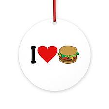I Love Hamburgers (design) Ornament (Round)