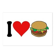 I Love Hamburgers (design) Postcards (Package of 8