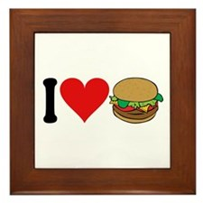 I Love Hamburgers (design) Framed Tile