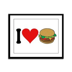 I Love Hamburgers (design) Framed Panel Print