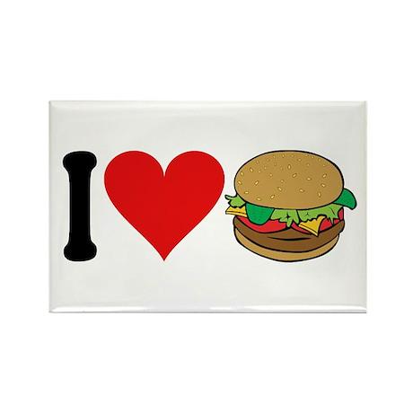 I Love Hamburgers (design) Rectangle Magnet (10 pa
