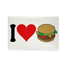 I Love Hamburgers (design) Rectangle Magnet