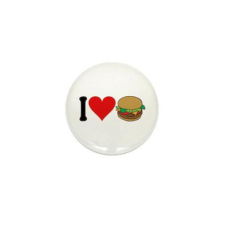 I Love Hamburgers (design) Mini Button (10 pack)