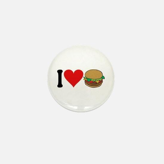 I Love Hamburgers (design) Mini Button