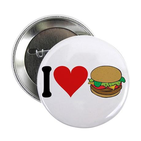 "I Love Hamburgers (design) 2.25"" Button (100 pack)"