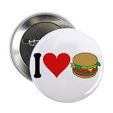"I Love Hamburgers (design) 2.25"" Button (10 pack)"