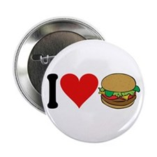 "I Love Hamburgers (design) 2.25"" Button"