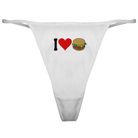 I Love Hamburgers (design) Classic Thong