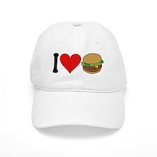 I Love Hamburgers (design) Baseball Baseball Cap