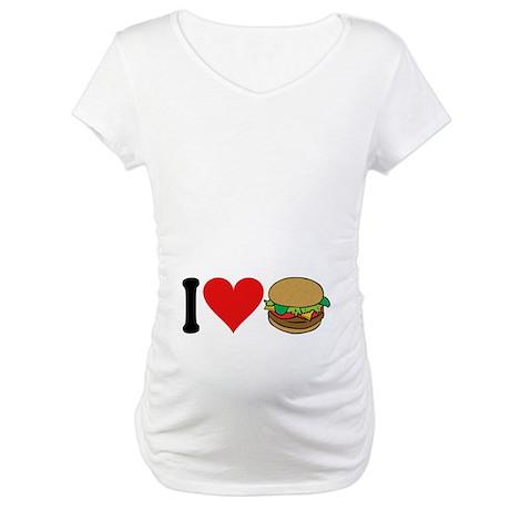 I Love Hamburgers (design) Maternity T-Shirt
