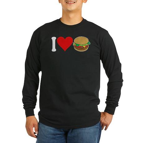 I Love Hamburgers (design) Long Sleeve Dark T-Shir
