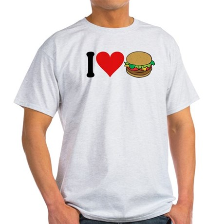 I Love Hamburgers (design) Light T-Shirt