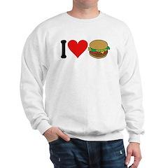 I Love Hamburgers (design) Sweatshirt