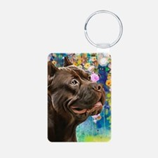 American Staffordshire Terrier Painting Keychains