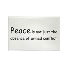 Peace Conflict Rectangle Magnet