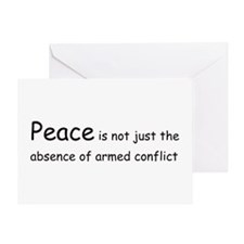 Peace Conflict Greeting Card