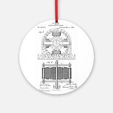 Tesla Motor patent 382279 Round Ornament