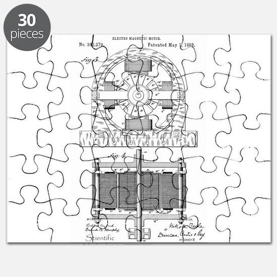 Tesla Motor patent 382279 Puzzle