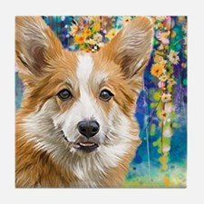 Corgi Painting Tile Coaster