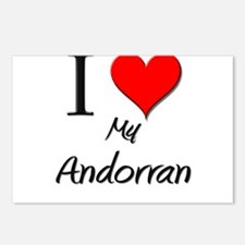 I Love My Andorran Postcards (Package of 8)