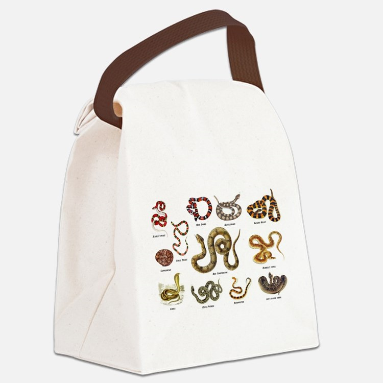 snakes Canvas Lunch Bag