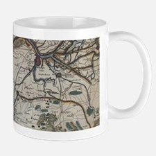 Vintage Map of Bruges Belgium (17th Century) Mugs