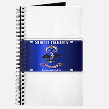North Dakota License Plate Flag Journal