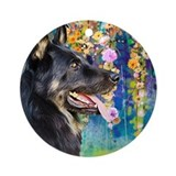 German shepherd angel Round Ornaments