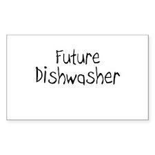 Future Dishwasher Rectangle Decal