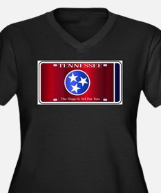 Tennessee State License Plate Fl Plus Size T-Shirt