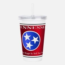 Tennessee State Licens Acrylic Double-wall Tumbler
