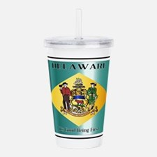 Delaware State License Acrylic Double-wall Tumbler