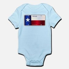 Texas State Flag License Plate Body Suit