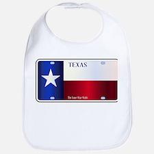 Texas State Flag License Plate Bib