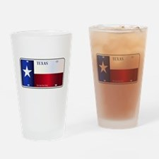 Texas State Flag License Plate Drinking Glass