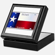 Texas State Flag License Plate Keepsake Box