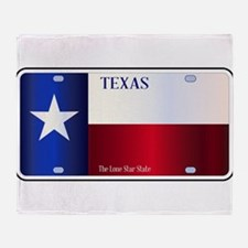 Texas State Flag License Plate Throw Blanket